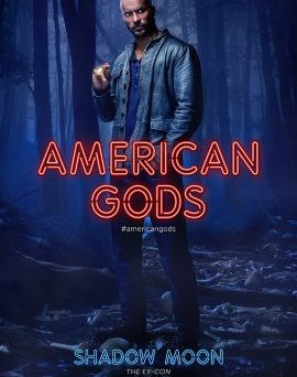 "Das Shadow Moon-Charakterposter zu ""American Gods"" (© Amazon Prime/Starz)"