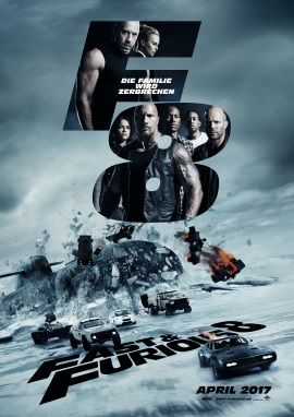 "Das Hauptplakat von ""Fast and Furious 8"" (© Universal Pictures Germany)"
