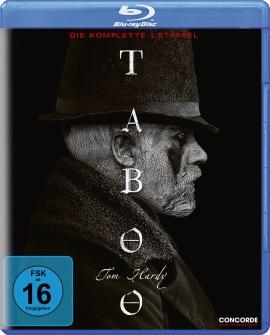 """Das Blu-ray-Cover der ersten Staffel von """"Taboo"""" (© Concorde Home Entertainment)"""