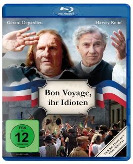 """Das Blu-ray-Cover von """"Bon Voyage, ihr Idioten"""" (© Farbfilm Verleih)"""