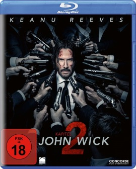"Das Blu-ray-Cover von ""John Wick: Kapitel 2"" (© Concorde Home Entertainment)"