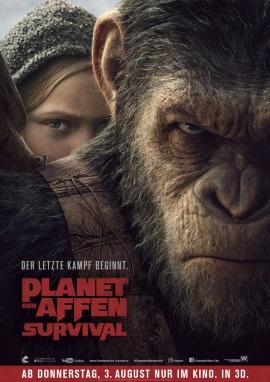 """Das Hauptplakat von """"Planet der Affen - Survival"""" (© 20th Century Fox)"""