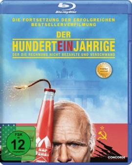 """Das Blu-ray-Cover von """"Der Hunderteinjährige, der seine Rechnung nicht bezahlte und verschwand"""" (© Concorde Home Entertainment)"""