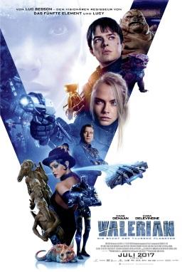"""Das Hauptplakat von """"Valerian - Die Stadt der tausend Planeten"""" (© Universum Film)"""