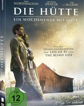 """Das DVD-Cover von """"Die Hütte - Ein Wochenende mit Gott"""" (© Concorde Home Entertainment)"""