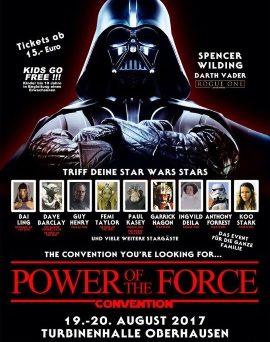 Plakat von der Power of the Force Convention (© 2017 Power Of The Force Convention)
