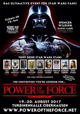 Plakat von der Power of the Force Convention (© 2017 Power Of The Force Convention)