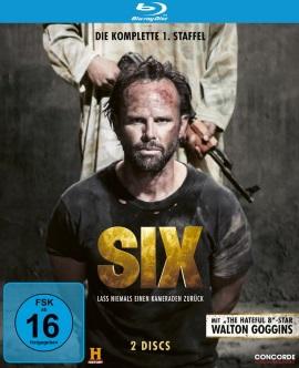 """Das Blu-ray-Cover der ersten Staffel von """"SIX"""" (© Concorde Home Entertainment)"""