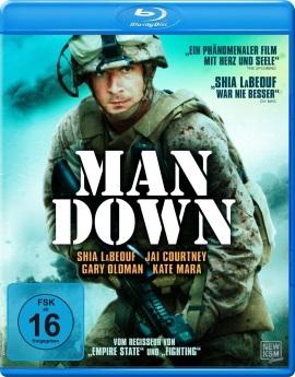 """Das Blu-ray-Cover von """"Man Down"""" (© KSM Film)"""