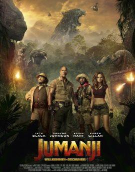 """Das Hauptplakat von """"Jumanji: Willkommen im Dschungel"""" (© 2017 Sony Pictures Entertainment Deutschland GmbH)"""