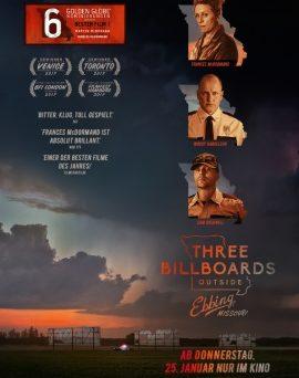 """Das Hauptplakat von """"Three Billboards Outside Ebbing, Missouri"""" (© 2017 Twentieth Century Fox)"""