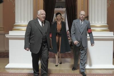 Chruschtschow und Beria schmieden eigene Pläne für eine russische Zukunft (© Concorde Film)