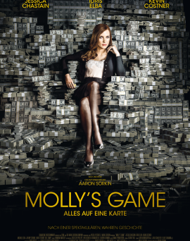 "Das Hauptplakat von ""Molly's Game"" (© Square One Entertainment)"