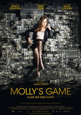 """Das Hauptplakat von """"Molly's Game"""" (© Square One Entertainment)"""