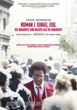 """Das Hauptplakat von """"Roman J. Israel, Esq."""" (© 2018 Sony Pictures Entertainment Deutschland GmbH)"""