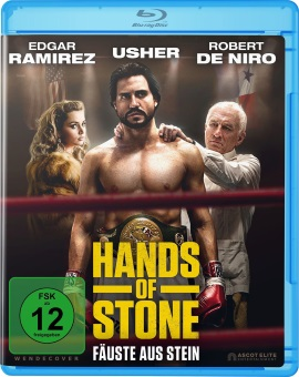 "Das Blu-ray-Cover von ""Hands of Stone"" (© Ascot Elite)"