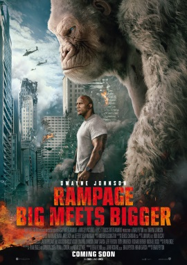 "Das Hauptplakat von ""Rampage - Big Meets Bigger"" (© 2018 Warner Bros Pictures)"