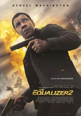 """Das Hauptplakat von """"The Equalizer 2"""" (© 2018 Sony Pictures Entertainment Deutschland GmbH)"""