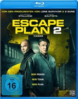 "Das Blu-ray-Cover von ""Escape Plan 2 - Hades"" (© KSM)"