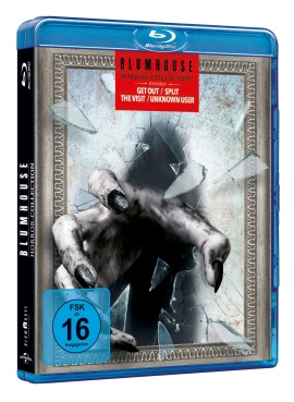 Das Blu-ray-Cover der Blumhouse Horror Collection (© Universal Pictures International Germany)