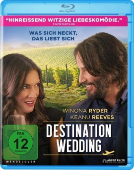 "Das Blu-ray-Cover von ""Destination Wedding"" (© Ascot Elite)"