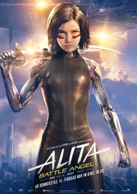 """Das Hauptplakat von """"Alita - Battle Angel"""" (© 2019 20th Century Fox)"""