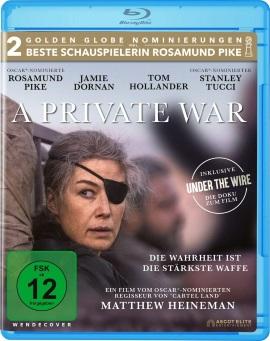 """Das Blu-ray-Cover von """"A Private War"""" (© Ascot Elite)"""