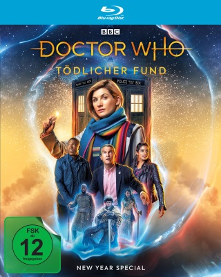 "Das Blu-ray-Cover vom ""Doctor Who New Year Special: Tödlicher Fund"" (© Polyband/BBC)"