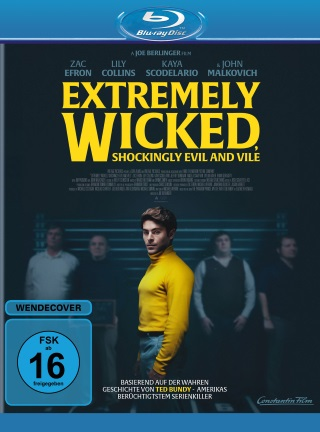 """Das Blu-ray-Cover von """"Extremely Wicked, Shockingly Evil and Vile"""" (© Constantin Film/Highlight Communications)"""