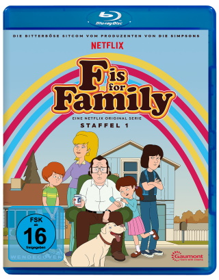 "Das Blu-ray-Cover von ""F is for Family Staffel 1"" (© Pandastorm Pictures)"