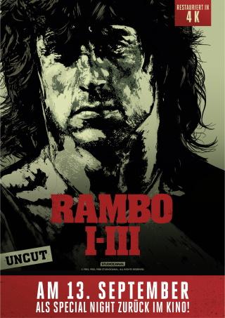 Das Event-Plakat zur Special Night Rambo I-III (© StudioCanal)