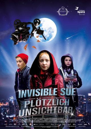 """Das Hauptplakat von """"Invisible Sue– Plötzlich Unsichtbar"""" (© Farbfilm Verleih)"""