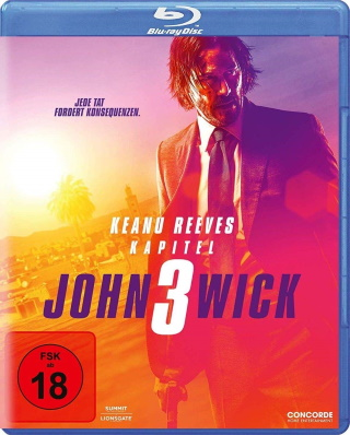 "Das Blu-ray-Cover von ""John Wick 3"" (© Concorde Home Entertainment)"