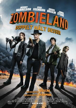 """Das Hauptplakat von """"Zombieland 2 – Doppelt hält besser"""" (© 2019 Sony Pictures)"""