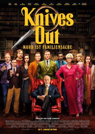 """Das Hauptplakat vo """"Knives Out - Mord ist Familiensache"""" (© Universum Film)"""
