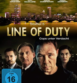 "Das Blu-ray-Cover von ""Line of Duty Staffel 5"" (© Justbridge Entertainment)"