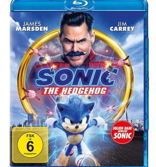 "Das Blu-ray-Cover von ""Sonic the Hedgehog"""