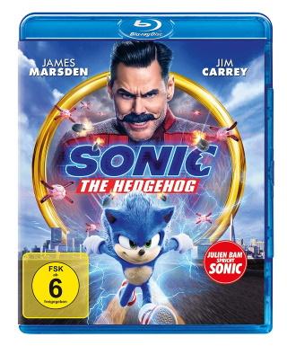 """Das Blu-ray-Cover von """"Sonic the Hedgehog"""" (© Paramount Pictures. Alle Rechte vorbehalten.)"""