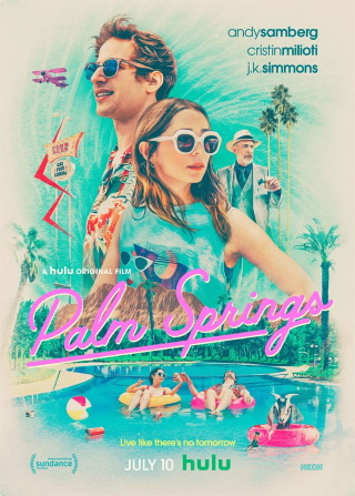 "Das Artwork von ""Palm Springs"" (© 2020 Hulu)"
