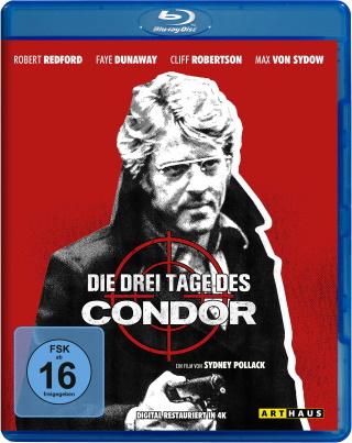 """Das Blu-ray-Cover von """"Die drei Tage des Condor"""" (© StudioCanal)"""