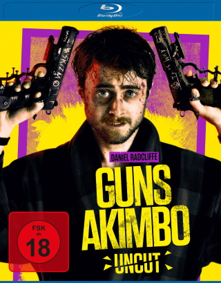 "Das Blu-ray-Cover von ""Guns Akimbo"" (© Leonine Distribution)"