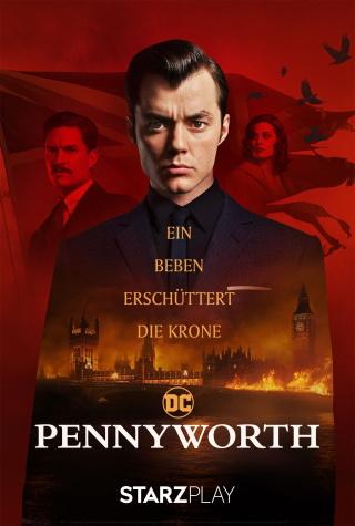 """Das Plakat von """"Pennyworth Staffel 2"""" (© Starzplay)"""