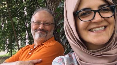 Khashoggi träumte von einer gemeinsamen Zukunft mit seiner Verlobten Hatice (© DCM/ Hanway Films)