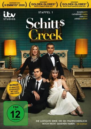 """Das DVD-Cover von """"Schitt's Creek Staffel 1"""" (© 2021 Edel Germany GmbH)"""