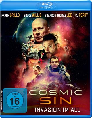 """Das Blu-ray-Cover von """"Cosmic Sin - Invasion im All"""" (© Dolphin Medien)"""